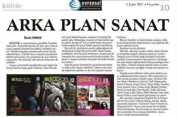 Arka Plan Evrensel Gazetesi'nde